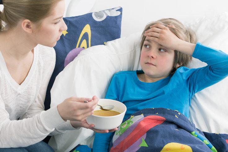 Alimentos para un niño enfermo
