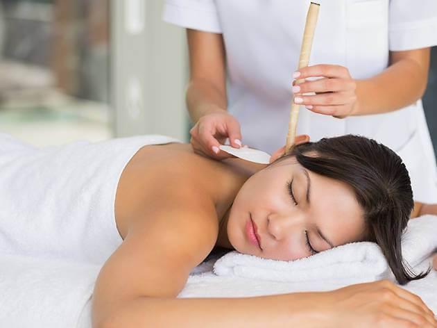 masaje para dolor de oído